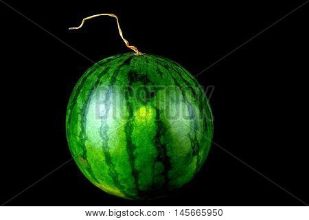 Water melon isolated against a black background