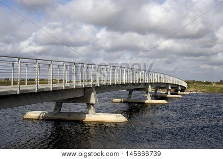 RINGKOBING-SKJERN DENMARK - AUGUST 30 2016: The dam