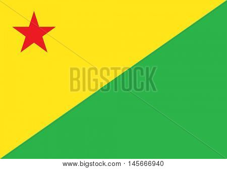 Vector Brazilian state Acre flag