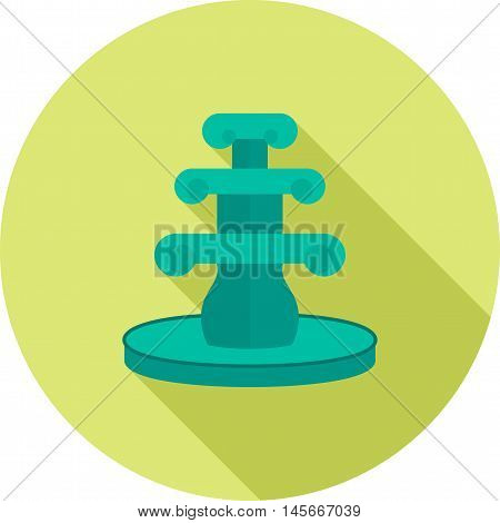 Fountain, water, beautiful icon vector image.Can also be used for home . Suitable for mobile apps, web apps and print media.