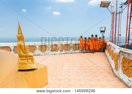 Novice Monks At The Tiger Cave Temple, Thailand