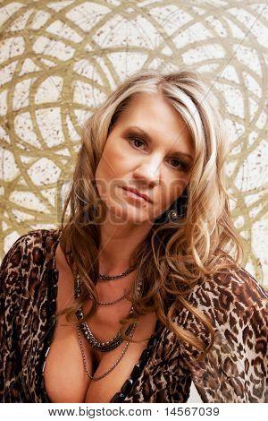 Beautiful mature woman fashion portrait