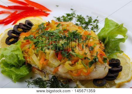 Baked Tilapia With Vegetables
