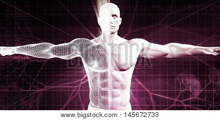Medical Testing and Body Checkup of a Human Male 3D Illustration Render
