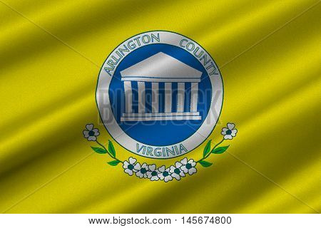 Flag of Arlington County of Virginia USA. 3D illustration