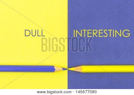 Dull Versus Interesting Contrast Concept