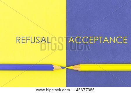 Refusal Versus Acceptance Contrast Concept