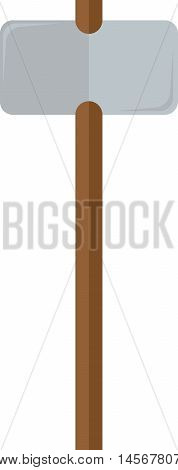 flat image of sledgehammer with a wooden handle