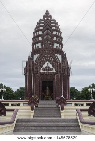 Prachuapkhirikhan THAILAND - july 27 2016 : the Pillar shrine of prachuapkhirikhan province,thailand,most beautiful pillar shrine of thailand