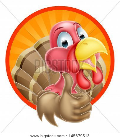 Cartoon Thumbs Up Turkey