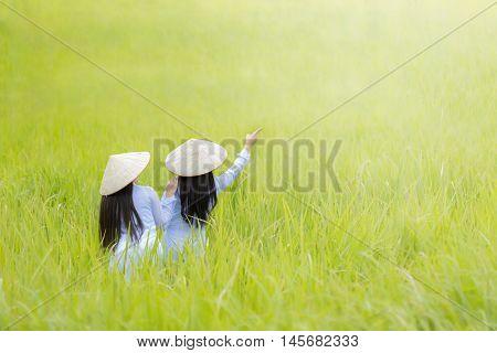 Vietnamg girl, Hanoi,  Vietnam, Concept, success lies ahead