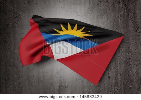 Antigua And Barbuda Flag Waving