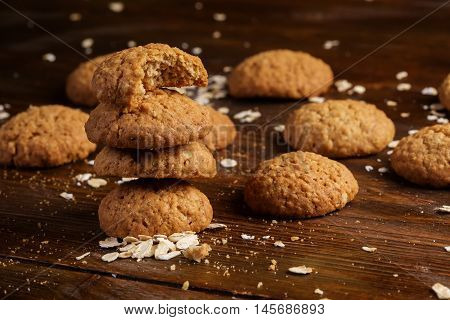 Cookies On A Wooden Table