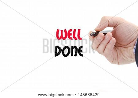 Well done text concept isolated over white background