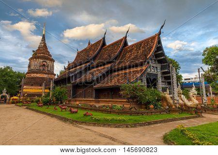 Wat Lok Molee At Sunset, Chiang Mai, Thailand