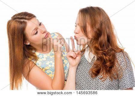 Attractive Girlfriends Show Gesture