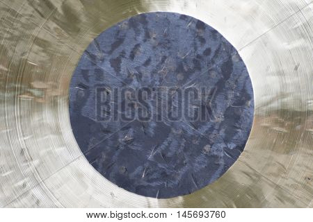 a gong metal as abstract backgroundfor relax