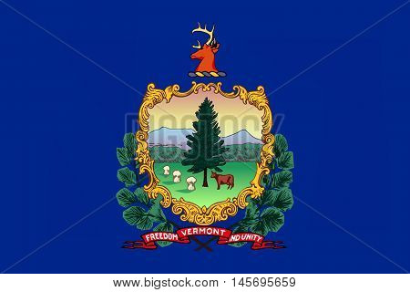 Flag of Vermont is a state in USA