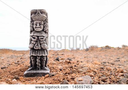 Ancient Maya Statue