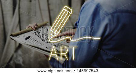 Pottery Art Work Artistic Concept
