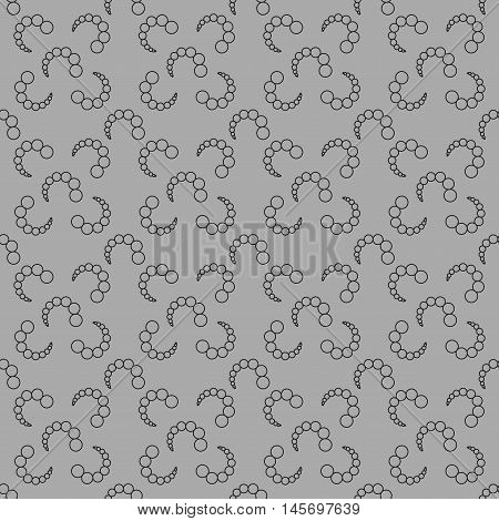 Bubbles chaotic seamless pattern. Fashion graphic background design. Modern stylish abstract texture. Monochrome template for prints textiles wrapping wallpaper website Stock VECTOR illustration