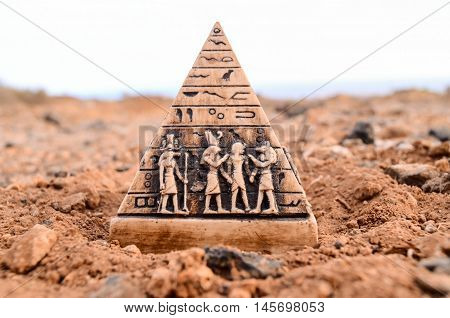 Egyptian Pyramid Model Miniature
