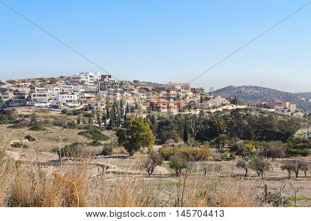 view of the Limassol town in Cyprus