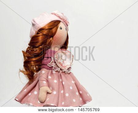 Souvenir Handmade Doll With Natural Hair