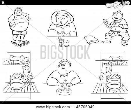 People On Diet Set