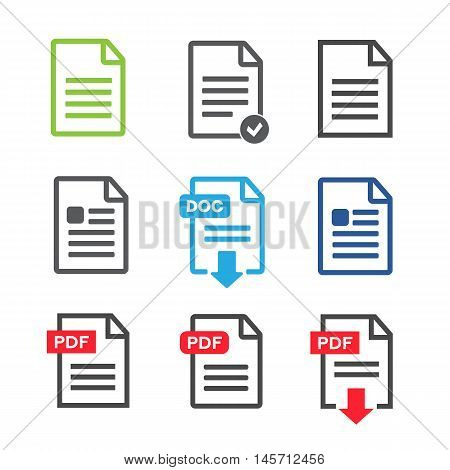 File Icons. File Icons line style vector illustration
