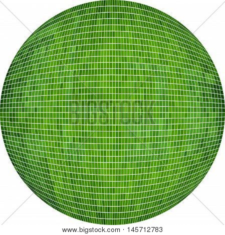 Green Ball in mosaic - Illustration,  Green Sphere vector,   Abstract Grunge green Mosaic in circle