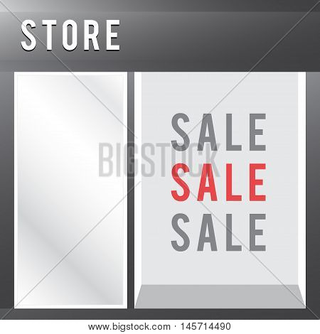 Shop with empty display sale vector store