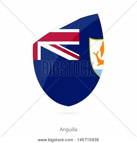 Flag of Anguilla in the style of Rugby icon. Vector Illustration.