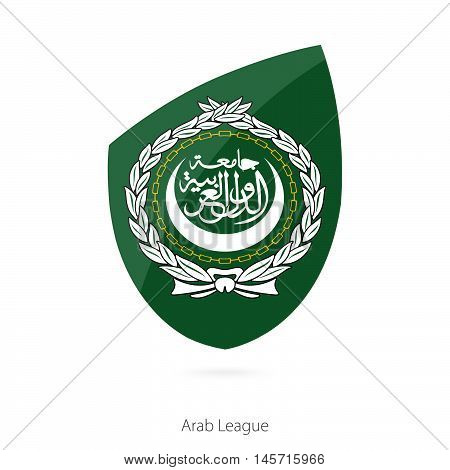 Flag of Arab League in the style of Rugby icon. Vector Illustration.