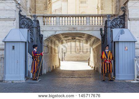 ST. PETER'S BASILICA VATICAN CITY June 6 2016 in St. Peter's Basilica