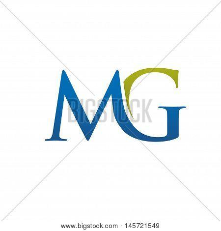 elegant letter MG logo concept, MG letter, MG symbol