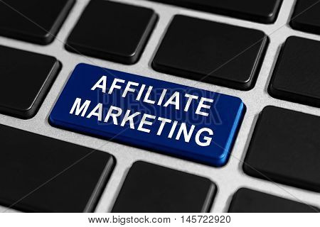 affiliate marketing button on keyboard business concept