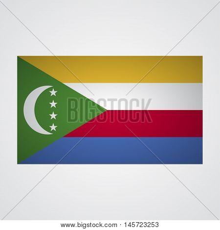 Comoros flag on a gray background. Vector illustration