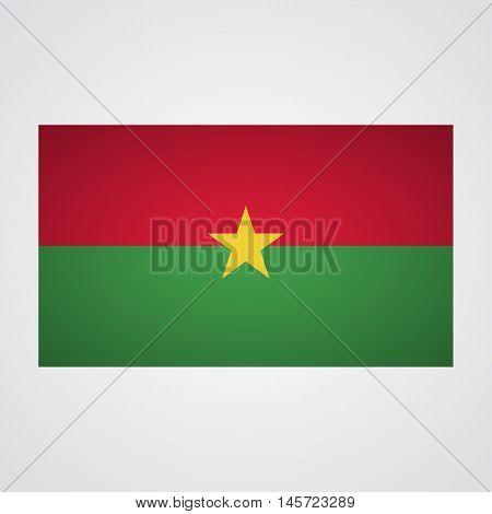 Burkina Faso flag on a gray background. Vector illustration