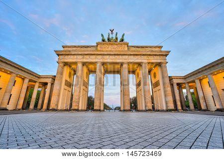 View of Brandenburger Tor in Berlin Germany.