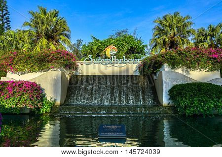Kota Kinabalu,Sabah-Aug 30,2016:Sutera Harbour Resort a hotel located at Kota Kinabalu,the 5 Star luxury hotel accommodation of the city style The Pacific Sutera & resort style The Magellan Sutera