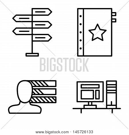 Set Of Project Management Icons On Decision Making, Personality And Quality Management. Project Mana