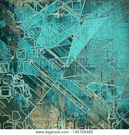Geometric vintage background texture, antique style composition for your design. With different color patterns: brown; blue; gray; black; cyan
