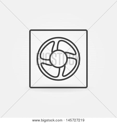 Ventilation line icon. Vector minimal concept ventilator symbol or sign in outline style