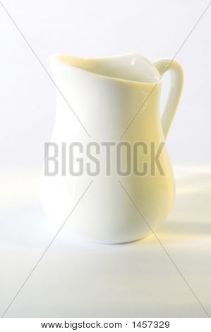 The White   Jug In White Background