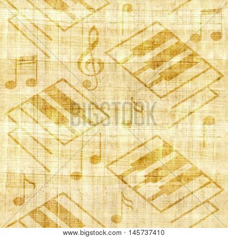 Abstract music backgrounds - papyrus texture - seamless background