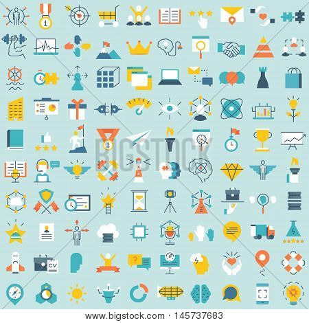 Set of 100 vector social media icons. Flat style design - part 3 - vector icons