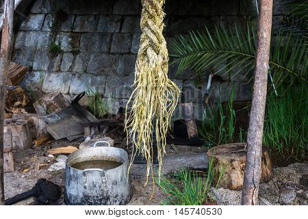Still Life With Thick Marine Rope.