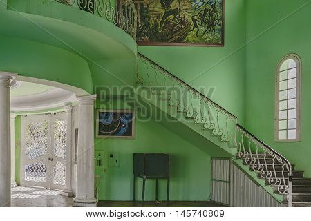 FORTALEZA, BRAZIL, DECEMBER - 2015 - Interior view of eclectic style elegant building located in Fortaleza Brazil