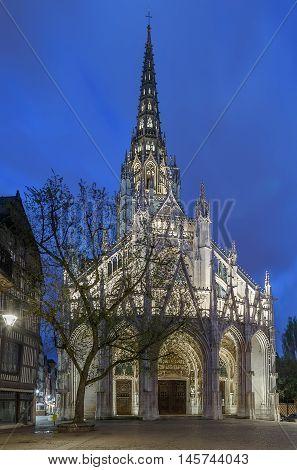 The Church of Saint-Maclou is a Roman Catholic church in Rouen France. Evening